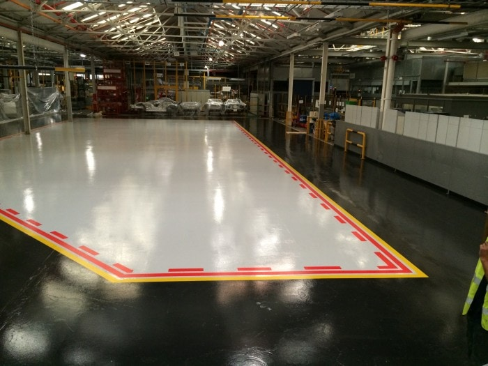 resin floor coating