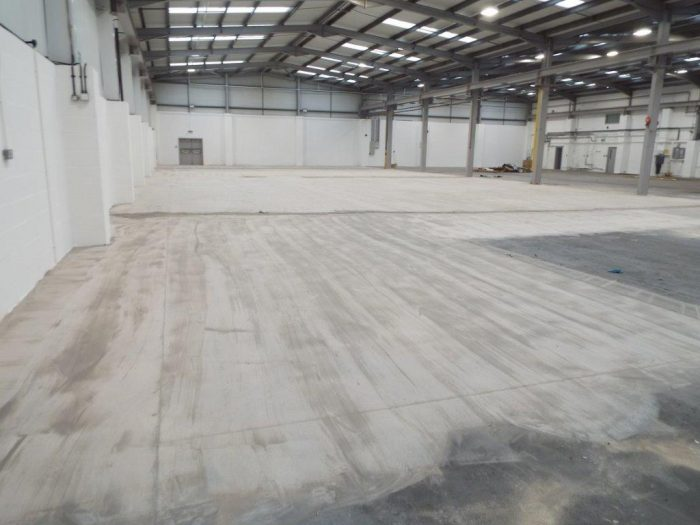 Large area that has gone through our floor preparation service